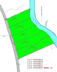 Neuerschlieüung mit fünf Ufergrundstücken am River Inhabitants